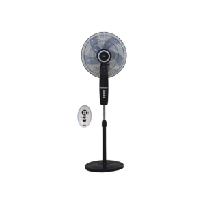 "MIKA Stand Fan, SMART, 16"", With Remote, Black & Silver 	 MFS1644R/BS photo"