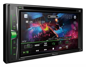 "Pioneer AVH-A205BT Double-DIN DVD Multimedia AV Receiver with 6.2"" WVGA Touchscreen Display, Built-in Bluetooth®, and Direct Control for iPod/iPhone  photo"