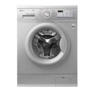 LG FH4G7TDY5 Front Load Washing Machine, 8KG, DD, Steam - Silver photo