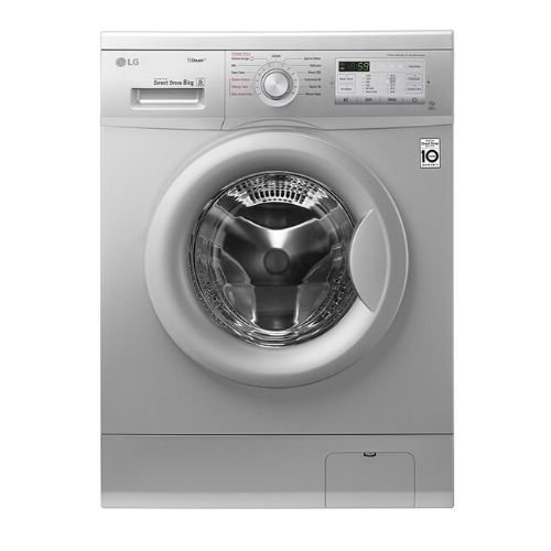 LG FH4G7TDY5 Front Load Washing Machine, 8KG, DD, Steam - Silver By LG