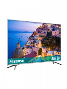 Hisense 65 inch LED HDR 4K Ultra HD Smart TV 65A6500PW with Freeview Play, Black/Silver photo