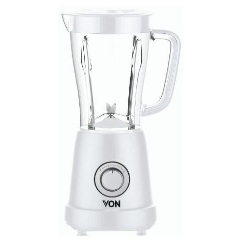 Von VSBT03BLW 1.5L Blender + Mill 500W - White By Hotpoint