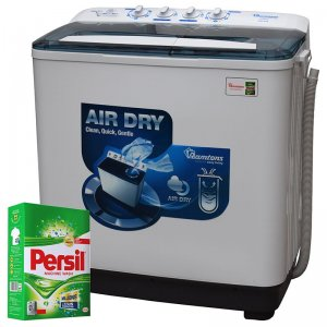 RAMTONS TWIN TUB DELUXE SEMI AUTOMATIC 8KG WASHER + FREE PERSIL POWDER- RW/208 photo