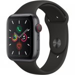 Apple Watch Series 5 (GPS + Cell, 44mm, Space Gray Aluminum, Black Sport Band) By Apple