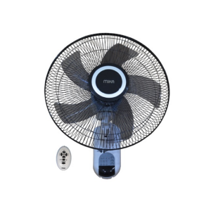 "MIKA Wall Fan, SMART, 16"", With Remote, White & Black - 	 MFW163R/WB photo"