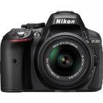 Nikon D5300 DSLR Camera with 18-55mm Lens (Black) photo