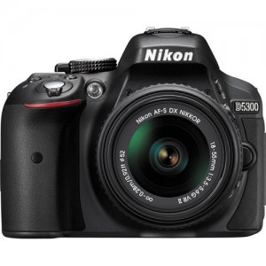 Nikon D5300 DSLR Camera with 18-55mm Lens (Black) photo