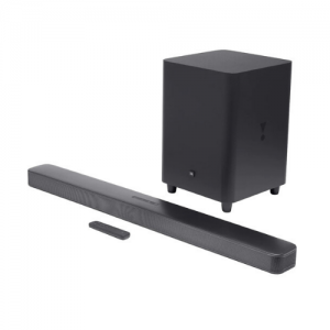 JBL Bar 5.1 Surround 550W Virtual 5.1-Channel Powered Sound Bar With Apple® AirPlay® 2, Chromecast Built-in, Bluetooth®, And Wireless Subwoofer photo