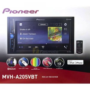 "Pioneer MVH-A205VBT 6.2"" Double DIN Bluetooth USB IPhone Control (NO DVD/CD)  photo"