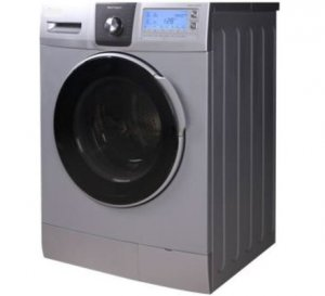VON HOTPOINT WASHING MACHINE HWF-812S FRONT LOAD 8KG SILVER + FREE 2KG ARIEL DETERGENT & 1L DOWNY SOFTENER photo