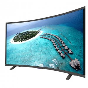 "Vision Plus VP8843C - 43"" - FHD Smart Curved, Android LED TV - Black + FREE WALL MOUNT photo"