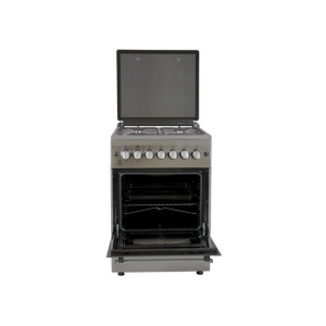 MIKA Standing Cooker, 58cm X 58cm, 4GB, Electric Oven, Half Inox - MST60PU4GHI/HC photo