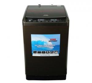 VON HOTPOINT WASHING MACHINE HWT-8082K TOP LOAD 8KG BLACK + FREE 2KG ARIEL DETERGENT & 1L DOWNY SOFTENER photo