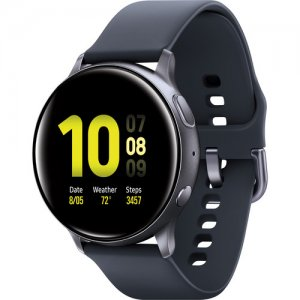 Samsung Galaxy Watch Active2 Bluetooth Smartwatch (Aluminum, 44mm, Aqua Black) photo