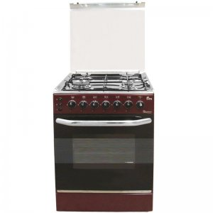 4 GAS 50X50 DARK RED COOKER 5694- EB/303 photo