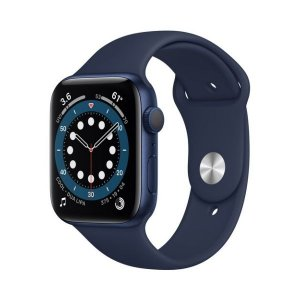 Apple Watch Series 6 (GPS, 44mm, Blue Aluminum, Deep Navy Sport Band) photo
