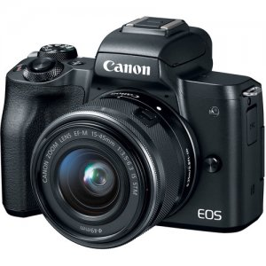 Canon EOS M50 Mirrorless Digital Camera with 15-45mm Lens (Black)  photo