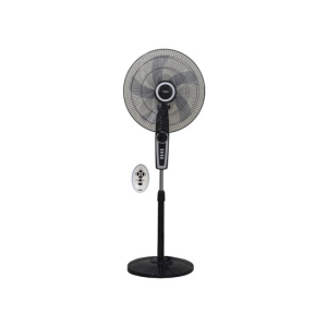 "MIKA Stand Fan, SMART, 18"" With Remote, Black & Silver MFS1832R/BS photo"