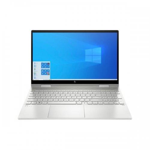 "HP Envy X360 15.6"" Core I7 11th Gen(1165G7), 16GB 512GB SSD 2GB NVIDIA GeForce MX450 Graphics Win 10 Home 15.6"" FHD Touch Screen Fingerprint Reader, Backlit Keyboard, Natural Silver (268T5AV) By HP"