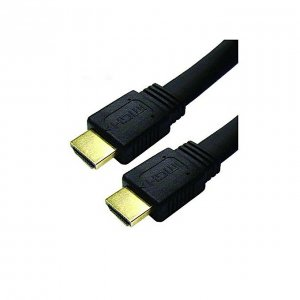 HDMI New Flat HDMI Cable - 10 Meter - Black photo