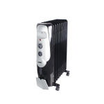 Von VSHC2090K 2KW Oil Filled Radiator Heater, 9 Fins - Black By Hotpoint
