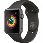 Apple Watch Series 3 42mm Smartwatch (GPS Only, Space Gray Aluminum Case, Gray Sport Band By Apple