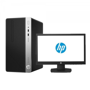 HP ProDesk 400 G5 Microtower PC (5BM23EA) - Intel Core i5-8500, 4GB RAM, 1TB Hard Disk, Free Dos, V197 18.5 Inch Monitor photo