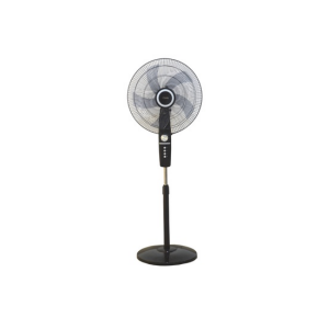 "MIKA Stand Fan, STYLISH, 18"", Black & Silver  MFS1822/BS photo"