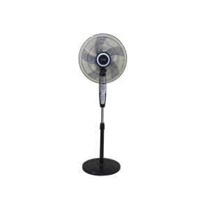"MIKA Stand Fan, LUXURY, 16"", Black & Silver - MFS1621/SB photo"