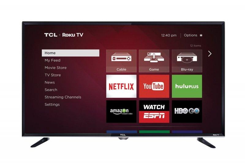 TCL 40 inch Smart LED TV 3 HDMI, 2 USB, Wi-Fi