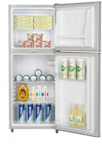 ICECOOL BCD-118 Fridge – 118 Litres – Silver photo