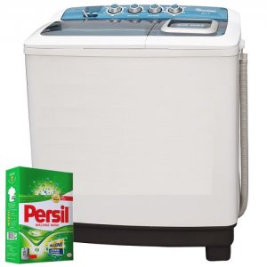RAMTONS TWIN TUB SEMI AUTOMATIC 8KG WASHER + FREE PERSIL POWDER- RW/115 photo