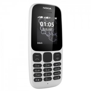 Nokia 105 4MB Dual Sim 1.8-inch Smartphone (DS TA-1034) – White /Black/ photo