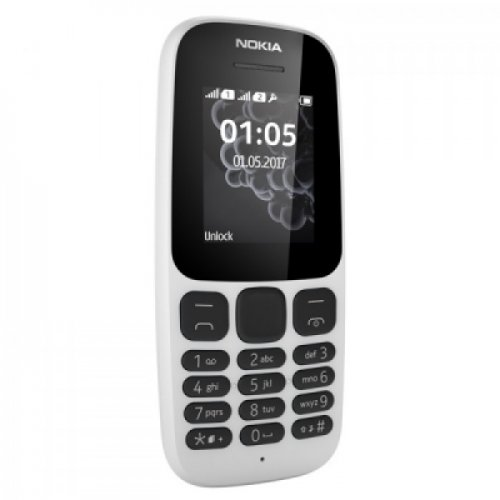 Nokia 105 4MB Dual Sim 1.8-inch Smartphone (DS TA-1034) – White /Black/ By Nokia