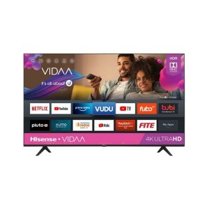 Hisense 65 Inch LED HDR 4K Ultra HD Smart TV 65A6500UW With Freeview Play, Black/Silver photo