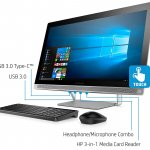 HP ENVY 27-B155qd  i7-7700 UHD 3840 x 2160 Display, Core i7-7700T, 2TB HD/256GB SSD All-in-One By HP