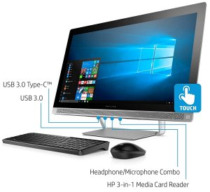 HP ENVY 27-B155qd  i7-7700 UHD 3840 x 2160 Display, Core i7-7700T, 2TB HD/256GB SSD All-in-One photo