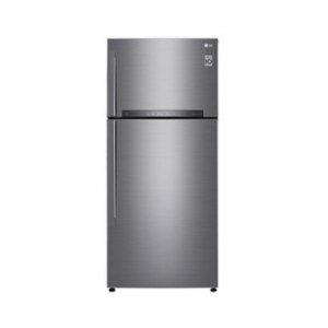 LG GL-H602HLHU Refrigerator, Top Mount Freezer, 410L – Silver photo