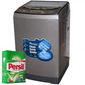 RAMTONS TOP LOAD FULLY AUTOMATIC MAGIC CUBE 12KG WASHER + FREE PERSIL POWDER- RW/136 photo
