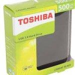 Toshiba HardDisk - 500GB - Black photo