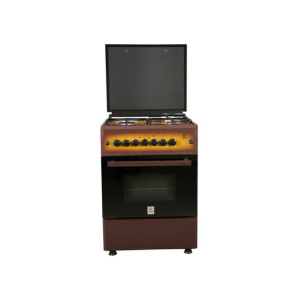 MIKA Standing Cooker, 58cm X 58cm, 3 + 1, Electric Oven, Light Brown TDF MST60PU31DB/HC photo