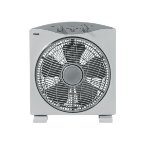 "MIKA Box Fan, 12"", Square CORNER, Light & Dark Grey  MFB1211/GR photo"