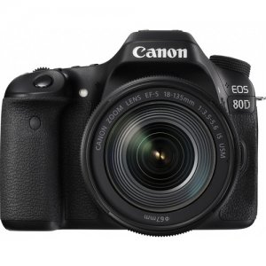 Canon EOS 80D DSLR Camera with 18-135mm Lens photo