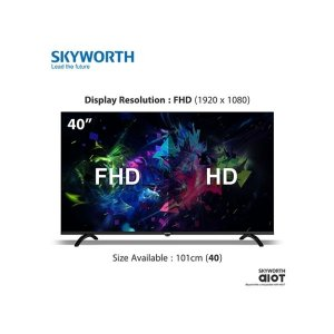 "Skyworth 40"" SMART FHD TV,NETFLIX,YOUTUBE,DOLBY AUDIO 40S3A31T-BLACK photo"