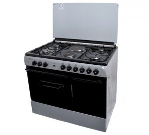 HOTPOINT 8422SLV 4 GAS + 2 ELECTRIC COOKER – SILVER photo