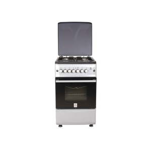 MIKA Standing Cooker, 50cm X 55cm, 4GB, Electric Oven, Silver photo