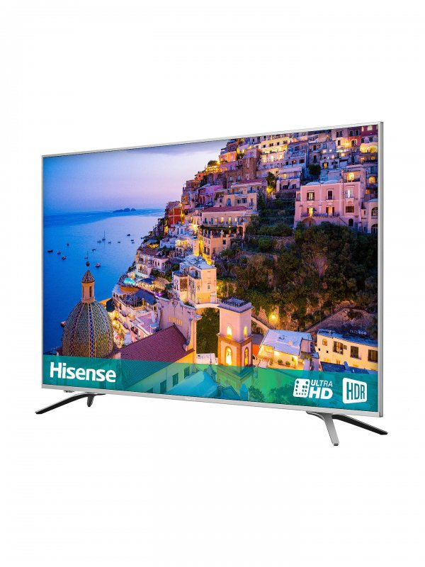 bf71b3ea6b9a Hisense 65 inch LED HDR 4K Ultra HD Smart TV 65A6500PW with Freeview Play,  Black/Silver