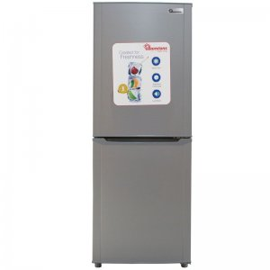 196 LITERS COMBI FRIDGE, SILVER- RF/289 photo