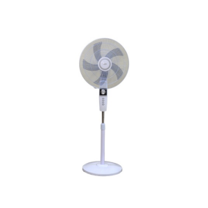 "MIKA Stand Fan, STYLISH, 18"", White & Silver  MFS1821/WS photo"