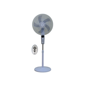 "MIKA Stand Fan, SMART, 18"" With Remote, White & Silver MFS1831R/WS photo"